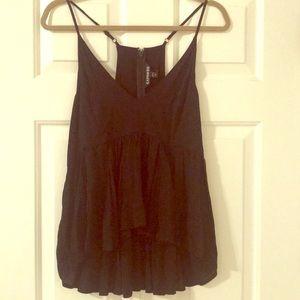 Express black babydoll camisole
